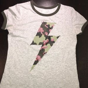 gray, camouflage and glitter pink lighting bolt